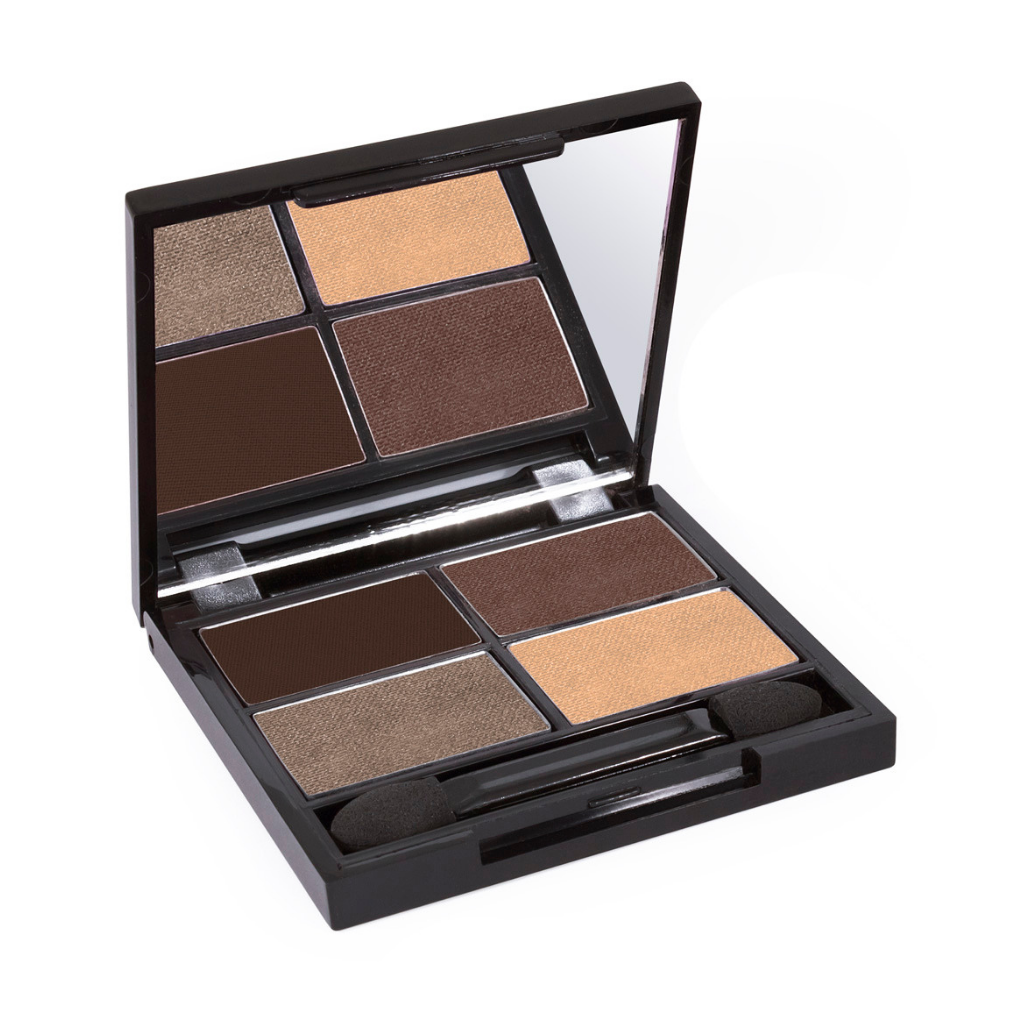 Zuii Organic Eyeshadow Quad in Natural, Brown Shades