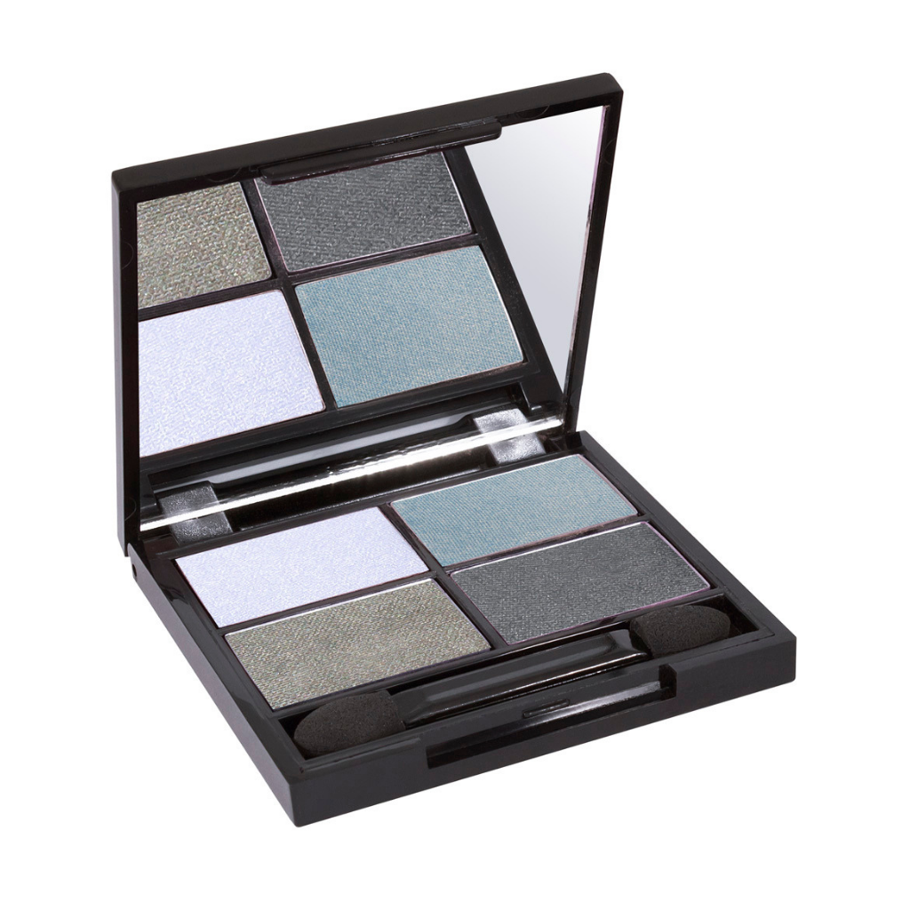 Zuii Organic Eyeshadow Quad in Blue Shades