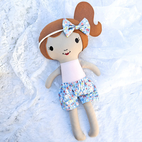 Edith ONE-OF-A-KIND cloth doll