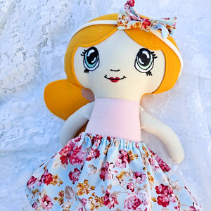 Florence ONE-OF-A-KIND cloth doll