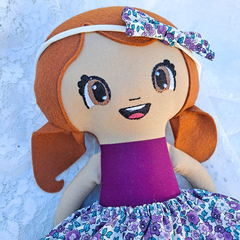 Jenny ONE-OF-A-KIND cloth doll