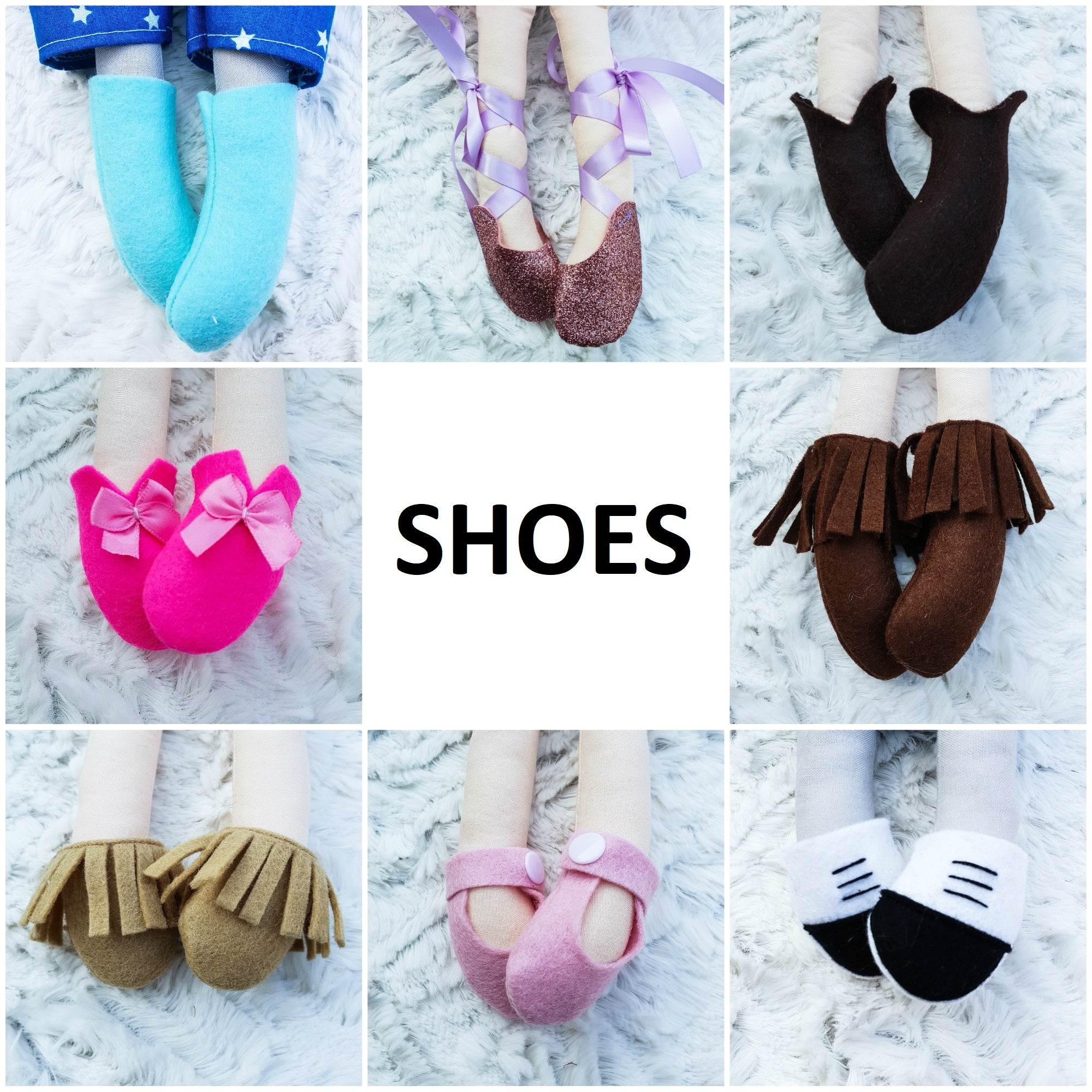 Shoes for Cloth Dolls