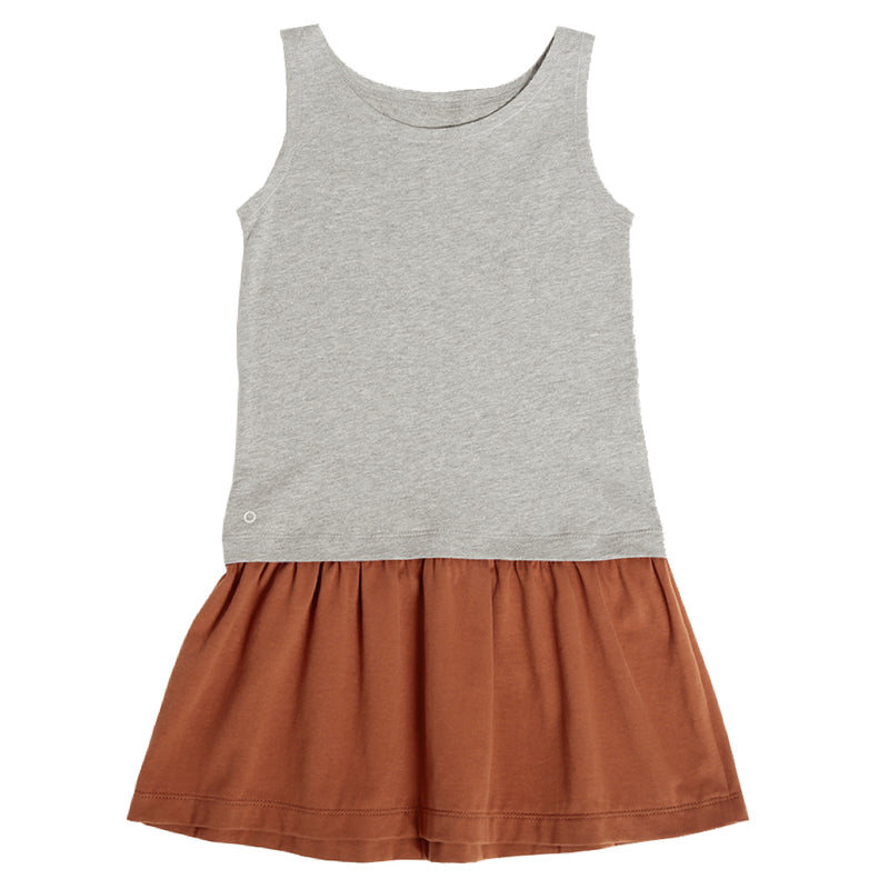 The Cool Tank Dress - Grey Melange I Caramel Cookie