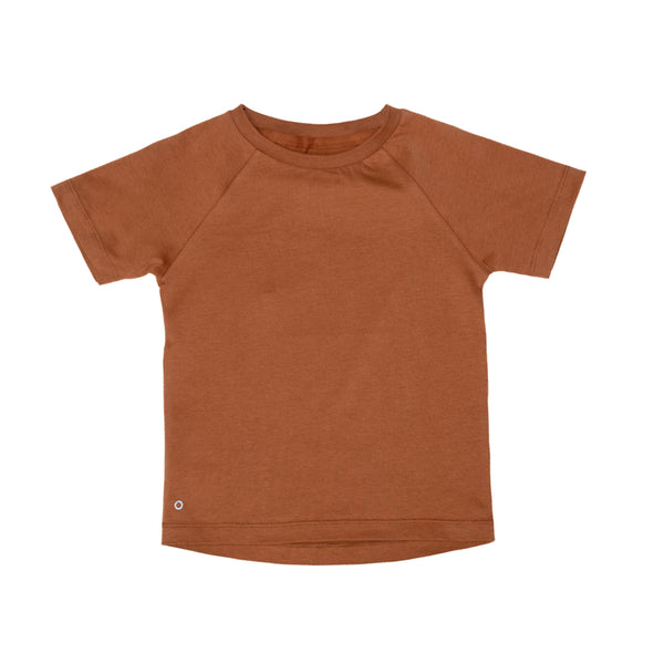 organic cotton kids luxury tee caramel cookie Orbasics