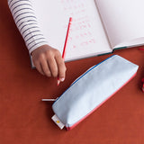 Pencil Case - faded red powder blue | Sticky Lemon