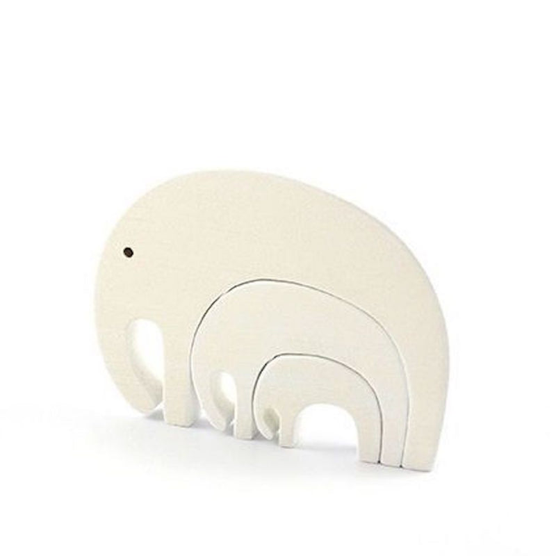 Wooden Animal Puzzle Elephant White Pinch Toys Orbasics