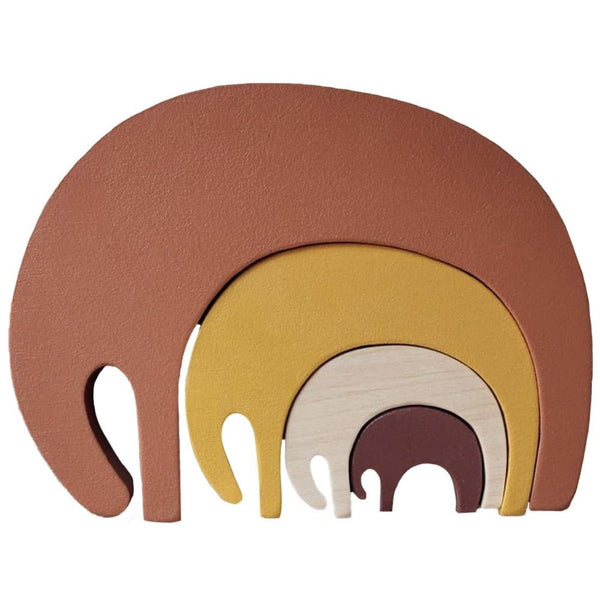 Wooden Toys - Elephant Puzzle Earth | Pinch Toys