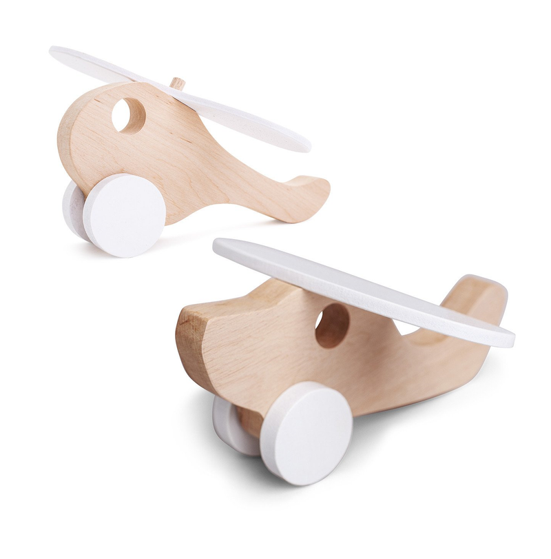 Pinch Toys - Wooden Plane Helly Mini Set - Orbasics