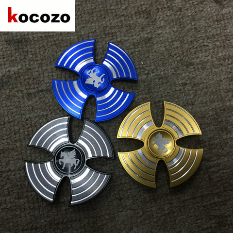 Aluminum Alloy Tri-Spinner EDC Hand Finger Spinner for Autism and ADHD Relief Stress Toys Kids Gift 2017 New Fidget Spinners