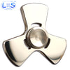 Stainless Steel Metal Hand Spinner Tri-spinner EDC Fidget Spinner for Autism and ADHD Rotation Time Long Anti Stress Toys