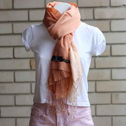 Shaded Pashmina Scarf Peach