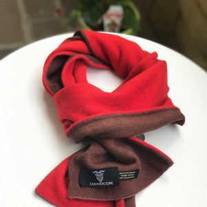brown red cashmere scarf