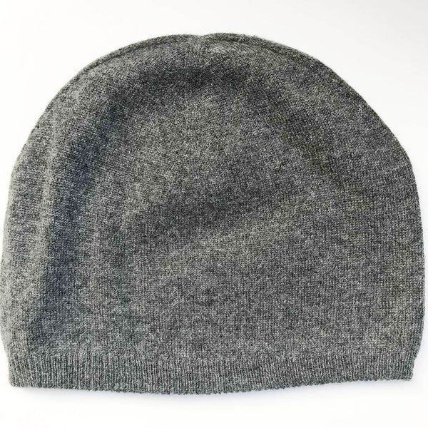cashmere beanie charcoal
