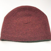 cashmere beanie green red