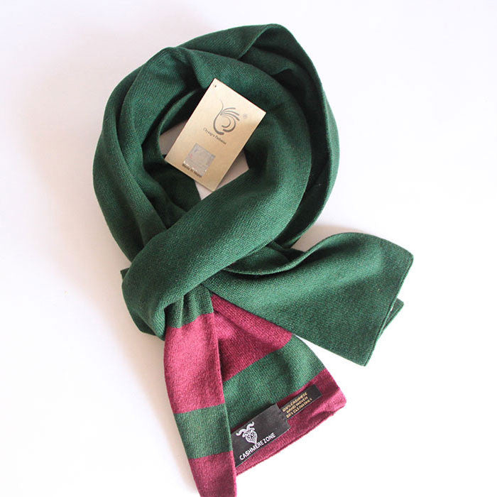 Lilac Green Pure Cashmere Scarf