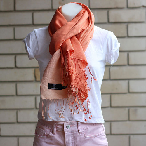 Shaded Pashmina Scarf Orange