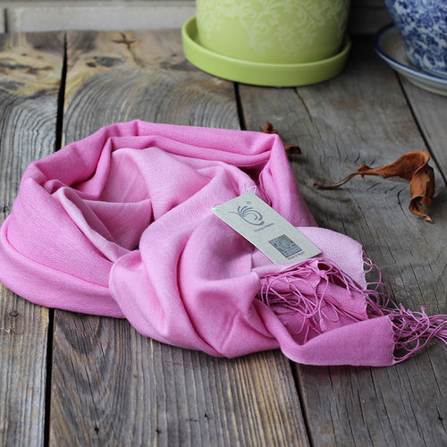 Shaded Pashmina Scarf Pastel Pink