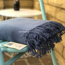 Cashmere Blanket Blue Grey