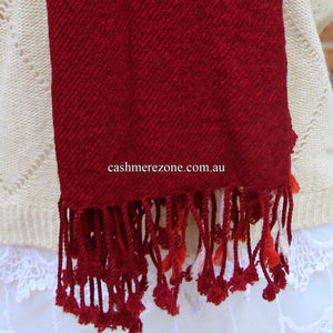 Red Check Cashmere Shawl Scarf