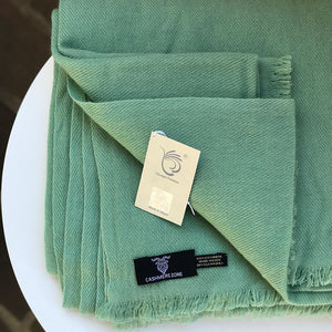 Cashmere Blanket Mint Green