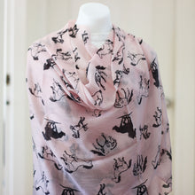 Animal Print Diamond Weave Pure Pashmina Shawl Pink