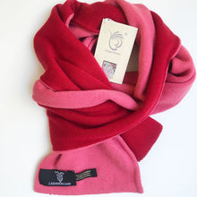 red reversible pure cashmere scarf