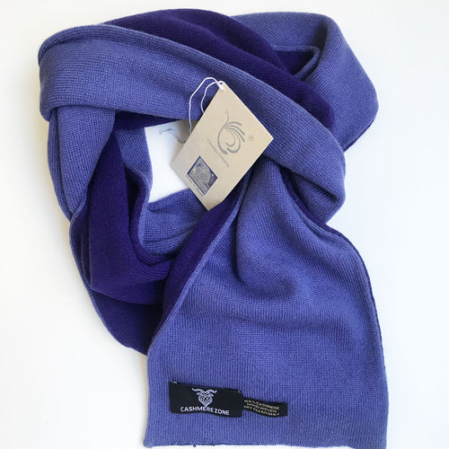 royal blue reversible pure cashmere scarf
