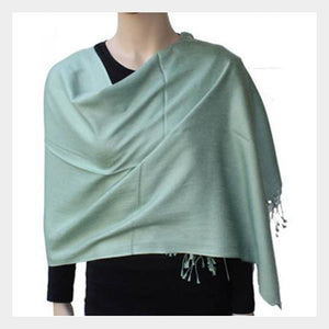 Pashmina Shawl Light Green