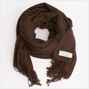 Pure Pashmina Scarf Brown