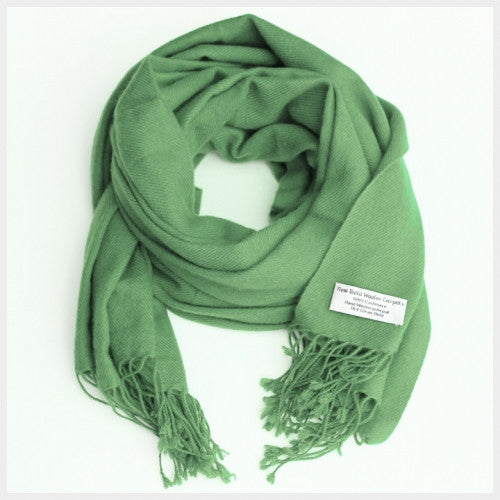 Pure Pashmina Scarf Light Green