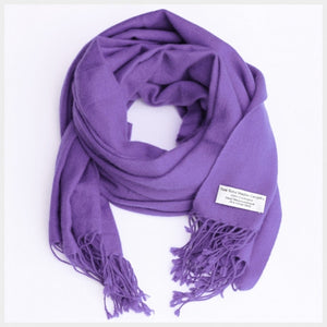 Pure Pashmina Scarf Purple