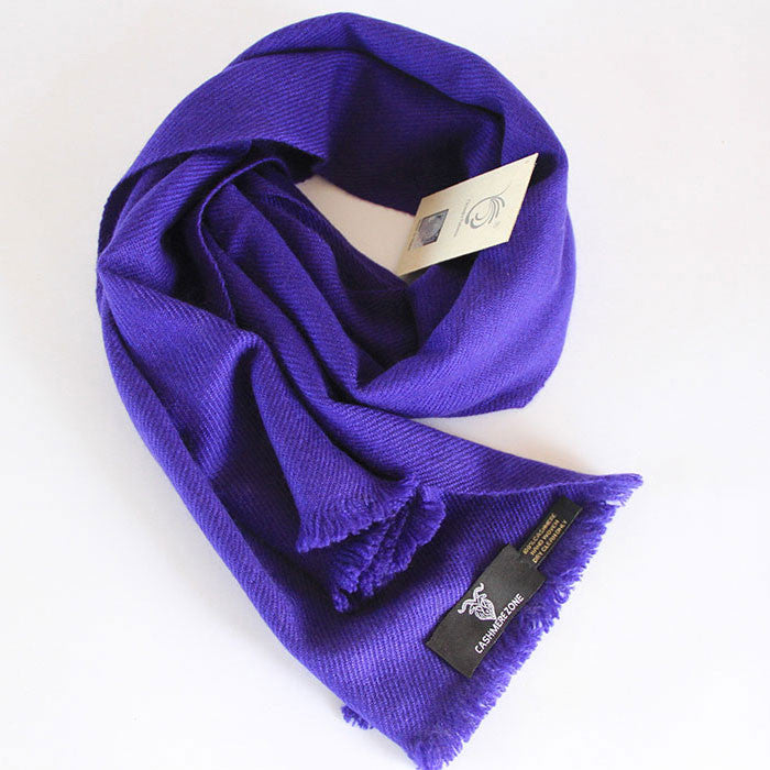Purple Haze Pure Cashmere Scarf