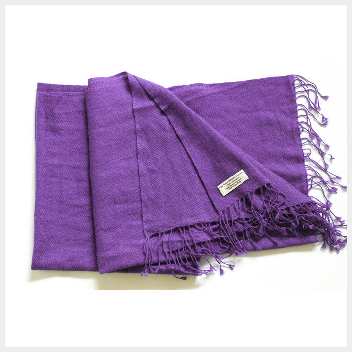 Pure Pashmina Shawl Purple