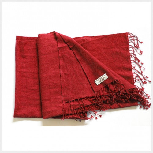 Pure Pashmina Shawl Red