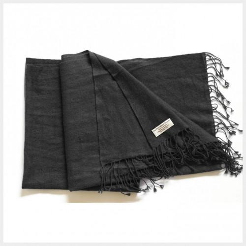 Pure Pashmina Shawl Black