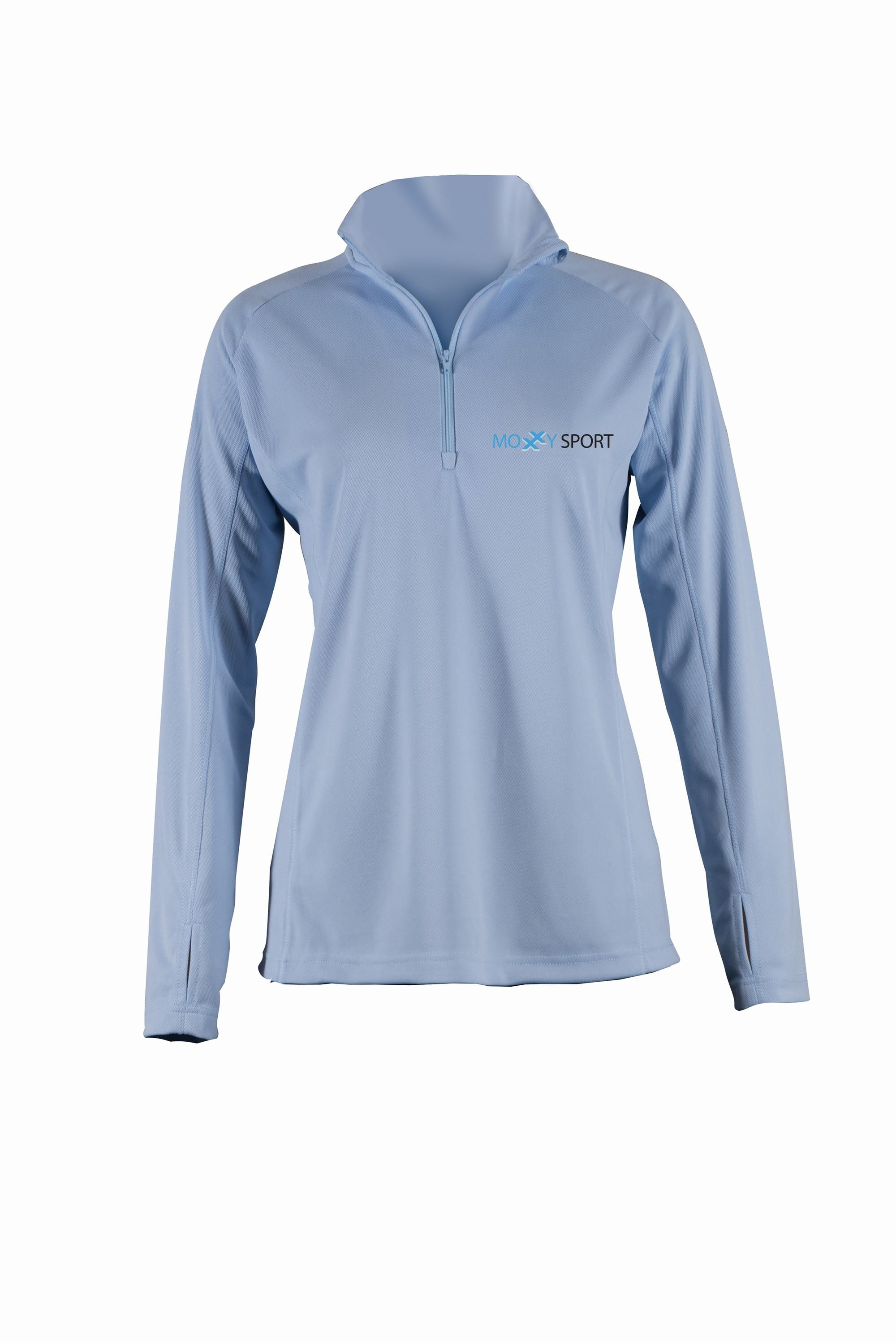 Court dry half zipped training shirt- women