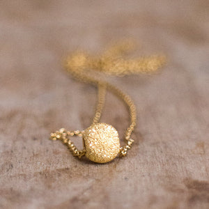 Dainty Disco Ball Necklace