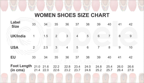 Cippele uses the european footwear sizing standards for the footwear  showcased 4e92c14e9d