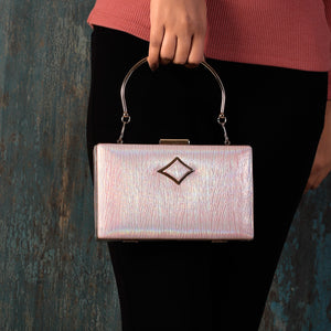 Pink Splash of Plushness Clutch