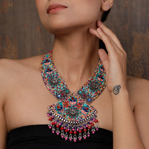 Boho Beaded Necklace in Multicolor
