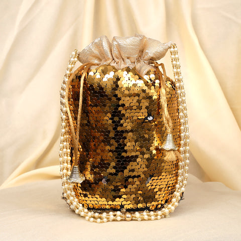 Plush Sequins Potli