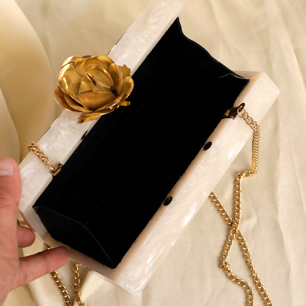The Royal Marble Look Clutch