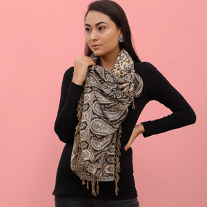 The Sultani Art Reversible Stole in Black