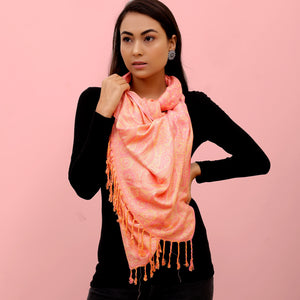 The Sultani Art Reversible Stole in Pink