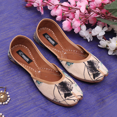 Foot Wear,Rose print Fabulous For Feet Jutti - Cippele Multi Store