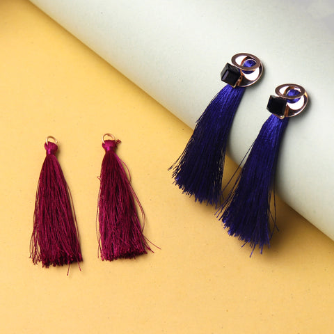Earrings,Double Tassel Drop Earrings - Cippele Multi Store