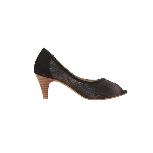 Foot Wear,Black Peep Toe Heels - Cippele Multi Store