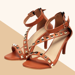 Foot Wear,Pretty Confident Tan Heels - Cippele Multi Store