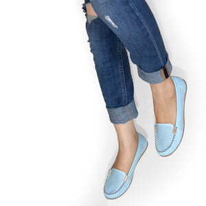 Rock N Roll Blue Loafer Mules