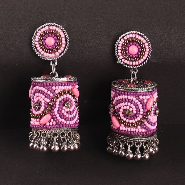 Earrings,The Sea Bed Earrings in Light Pink and Purple - Cippele Multi Store